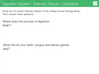 The Digestive System - Lifeliqe Lesson Plan With 3d